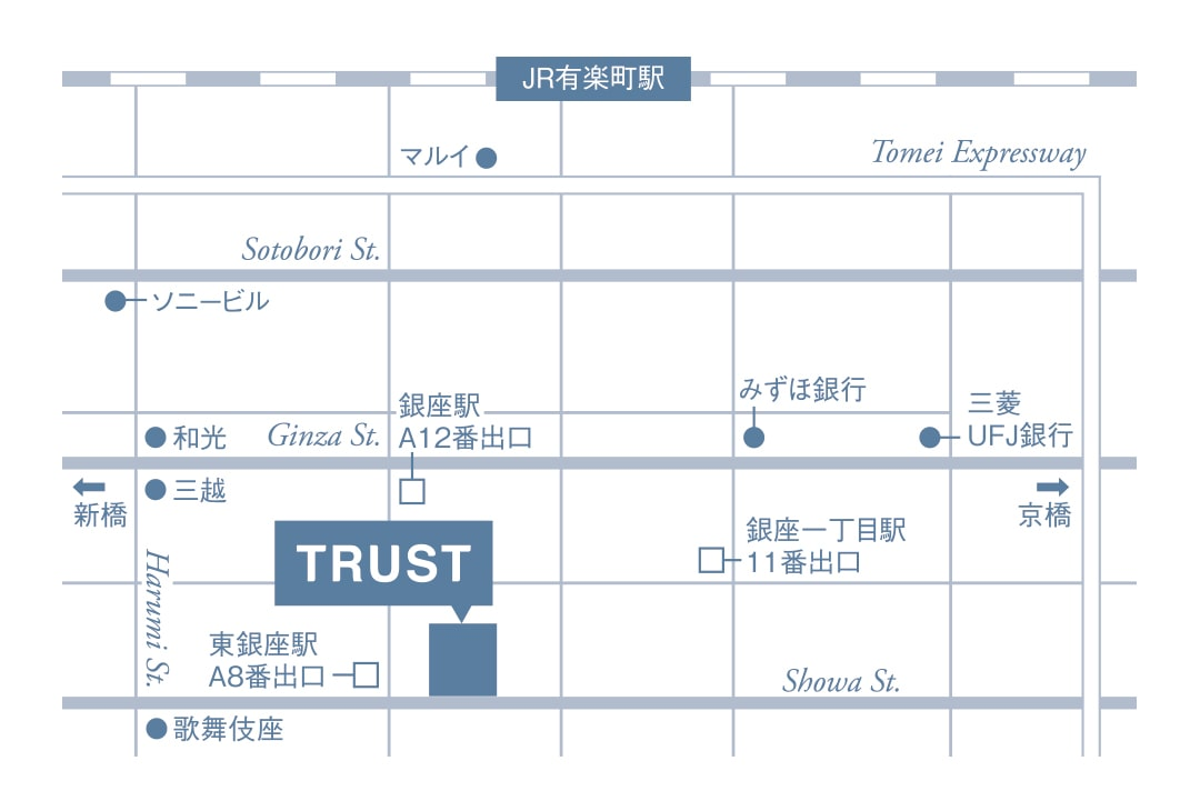 株式会社TRUST(トラスト)周辺地図
